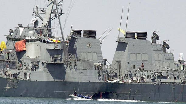 The USS Cole bombing killed 17 sailors and injured 37 others in October 2000. (AP Photo/Dimitri Messinis, file)