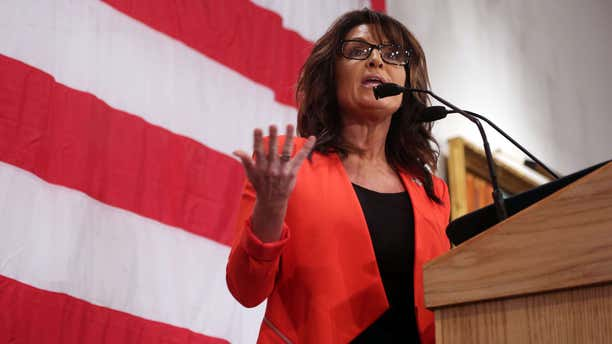 April 1, 2016: Former Alaska Gov. Sarah Palin, speaks as The Milwaukee County Republican Party hosted a Presidential Dinner in Milwaukee.