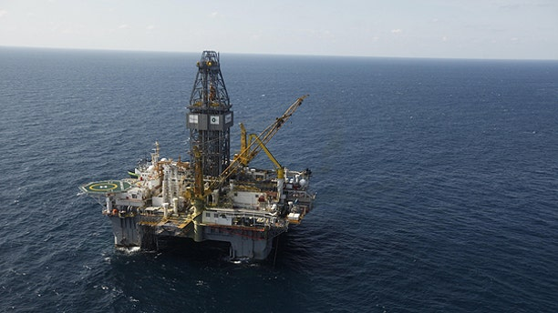 In this Sept. 18, 2010 file photo, the Development Driller III, which drilled the relief well and pumped the cement to seal the Macondo well, the source of the Deepwater Horizon rig explosion and oil spill, is seen in the Gulf Of Mexico, off the coast of Louisiana.