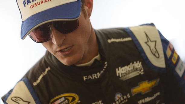 FONTANA, CA - MARCH 18: Kasey Kahne, driver of the #5 Farmers Insurance Chevrolet, prepares for practice for the NASCAR Sprint Cup Series Auto Club 400 at Auto Club Speedway on March 18, 2016 in Fontana, California. (Photo by Robert Laberge/Getty Images)