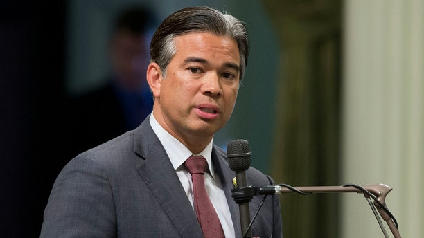 FILE -- In this Aug. 31, 2016 file photo Assemblyman Rob Bonta, D-Alameda, speaks during a legislative session, in Sacramento, Calif.