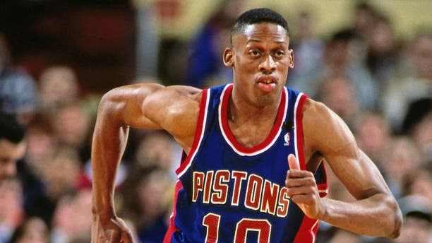 Dennis Rodman was a member of the Pistons for seven seasons. (Photo by Nathaniel S. Butler/NBAE via Getty Images)