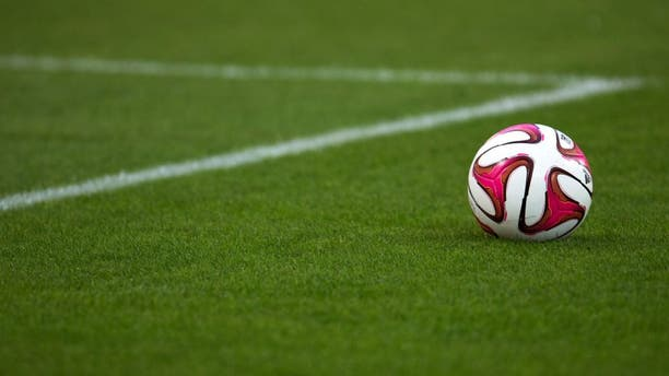A ball is seen on the pitch prior to the French L1 football match Olympique de Marseille vs OGC Nice on August 29, 2014 at the Velodrome stadium in Marseille, southern France. AFP PHOTO / BERTRAND LANGLOIS (Photo credit should read BERTRAND LANGLOIS/AFP/Getty Images)