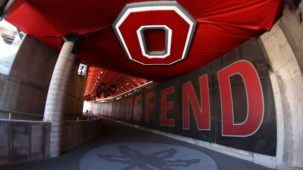 Apr 16, 2016; Columbus, OH, USA; A general view of the Ohio State player tunnel at the Ohio State Spring Game at Ohio Stadium. Mandatory Credit: Aaron Doster-USA TODAY Sports