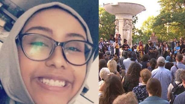 A group gathered in Dupont Circle to remember 17-year-old Nabra Hassanen