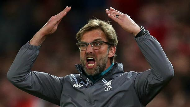 BASEL, SWITZERLAND - MAY 18: Liverpool manager Jurgen Klopp encourages the fans during the UEFA Europa League Final match between Liverpool and Sevilla at St. Jakob-Park on May 18, 2016 in Basel, Switzerland. (Photo by Chris Brunskill Ltd/Getty Images)