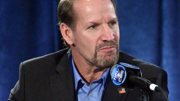 Jan 29, 2013, New Orleans, LA, USA; Pittsburgh Steelers former coach Bill Cowher at CBS sports Super Bowl XLVII press conference at the New Orleans Ernest N. Morial Convention Center. Mandatory Credit: Kirby Lee-USA TODAY Sports