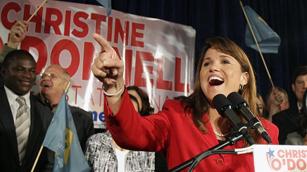 Sept. 14: Christine O'Donnell addresses supporters after winning the Republican nomination for Senate in Delaware.