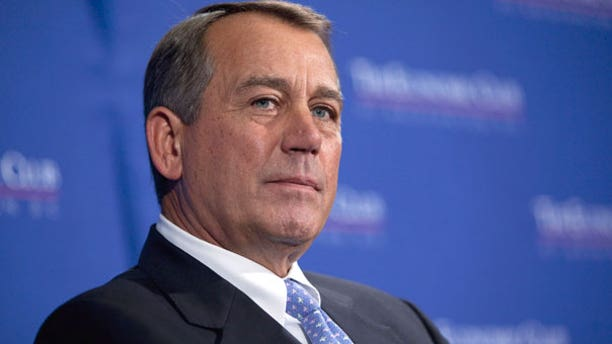 Sept. 15: House Speaker John Boehner of Ohio listens to his introduction prior to speaking about the economy at the Economic Club of Washington, in Washington.