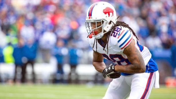 ORCHARD PARK, NY - SEPTEMBER 13: Ronald Darby #28 of the Buffalo Bills comes set to defend against the Indianapolis Colts on September 13, 2015 at Ralph Wilson Stadium in Orchard Park, New York. Buffalo defeats Indianapolis 27-14. (Photo by Brett Carlsen/Getty Images)