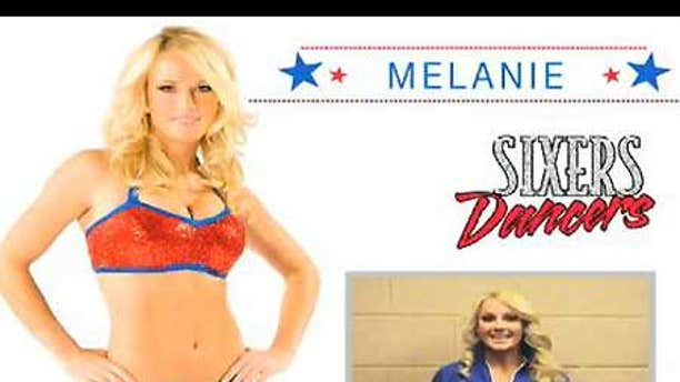 Philadelphia 76ers cheerleader Melanie is doubling as a chemistry professor and offering you a 'brain makeover' at ScienceCheerleader.com