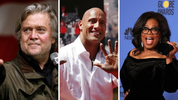 "Steve Bannon said he thinks Dwayne ""The Rock"" Johnson's career is ruined after his admiration for Oprah Winfrey's Golden Globes speech."