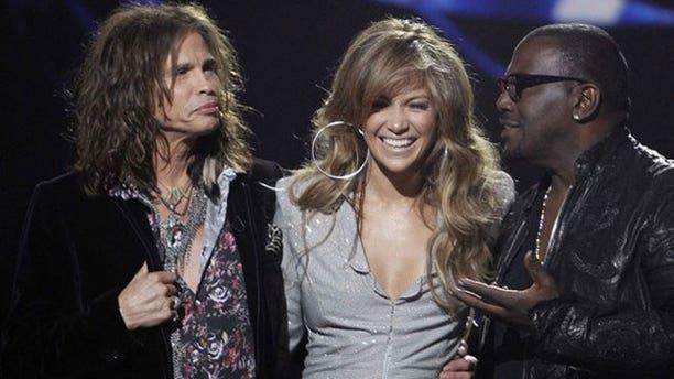 Steven Tyler, Jennifer Lopez and Randy Jackson, the hosts of 'American Idol.'