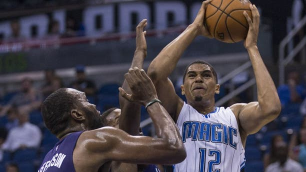Dallas might add Harris to a core that includes Kristaps Porzingis and Luka Doncic. (AP Photo/Willie J. Allen Jr.)