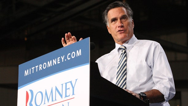 Oct. 31, 2012: Republican presidential candidate Mitt Romney speaks at a campaign event at the University of Miami in Coral Gables, Fla.