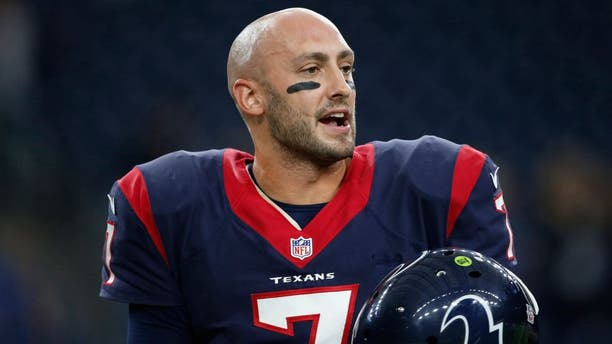 Nov 1, 2015; Houston, TX, USA; Houston Texans starting quarterback Brian Hoyer (7) before the game against the Tennessee Titans at NRG Stadium. Mandatory Credit: Erich Schlegel-USA TODAY Sports
