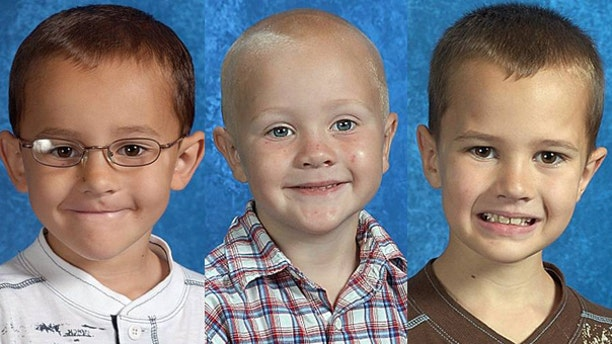 These undated photos provided by The National Center for Missing & Exploited Children show the Skelton brothers.
