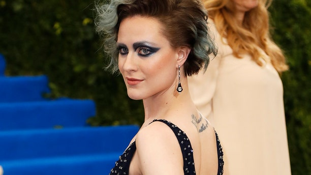 """The """"Westworld"""" star at the 2017 Met Gala."""