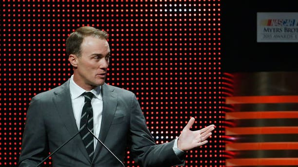 LAS VEGAS, NV - DECEMBER 03: NASCAR Sprint Cup Series driver Kevin Harvick speaks onstage during the 2015 NASCAR NMPA Myers Brothers Awards Luncheon at Encore Las Vegas on December 3, 2015 in Las Vegas, Nevada. (Photo by Brian Lawdermilk/NASCAR via Getty Images)