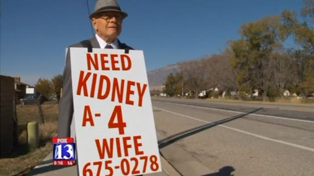 Wayne Winters' wife was finally matched with a kidney donor.