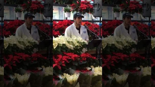 Guilherme Assunção stunned onlookers at Russo's in Watertown, Mass., when he stepped behind a microphone set up for holiday carolers.