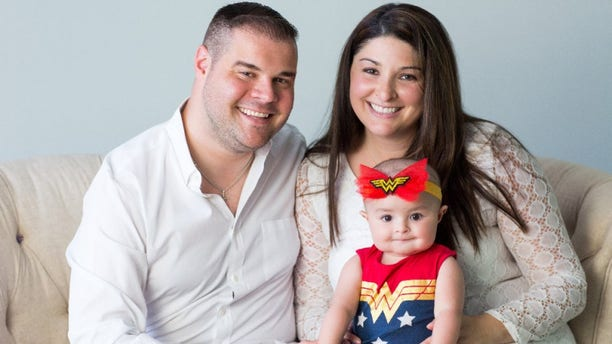Addie DePersiis and her parents, Brian and Vanessa DePersiis.