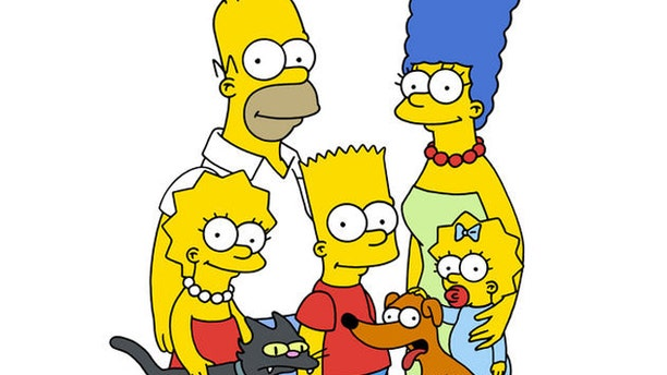 """""""The Simpsons"""" cartoon characters are shown."""