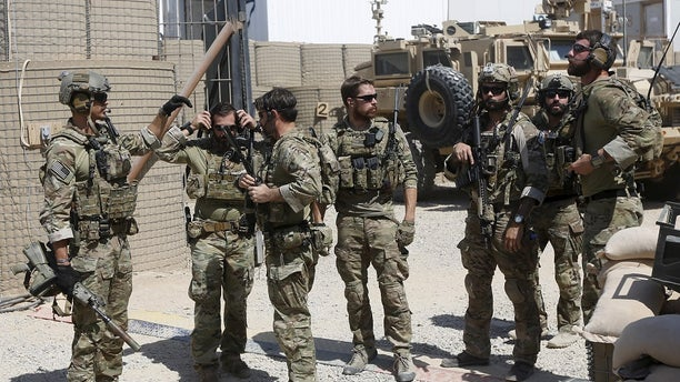 U.S. special forces soldiers are seen in Helmand, Afghanistan.