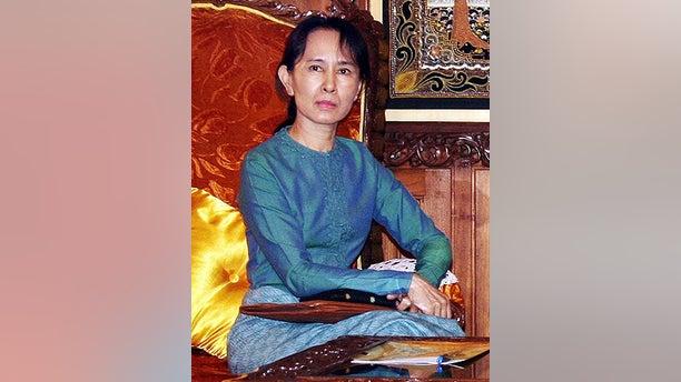 Jan. 30, 2008: Burma's pro-democracy leader Aung San Suu Kyi is seen in Yangon