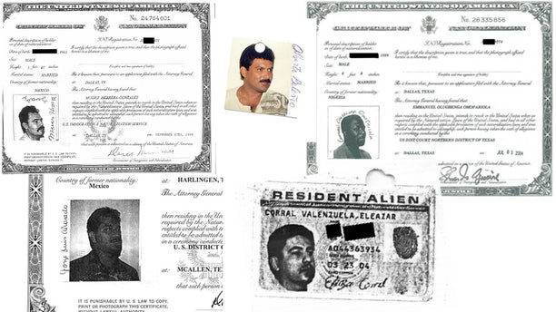 The Department of Justice on Tuesday filed lawsuits to revoke the citizenship of five immigrants who pleaded guilty to sexually abusing minors in incidents that were determined to have taken place before they became U.S. citizens. From left to right: Moises Herrera-Gonzalez, Alberto Mario Beleno, Emmanuel Olugbenga Omopariola, Jorge Luis Alvarado and Eleazar Corral Valenzuela.