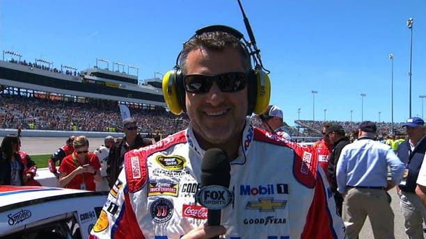 """NASCAR RaceDay: Tony Stewart checks in with the Hollywood Hotel and discusses his $35,000 """"investment"""" in safety."""