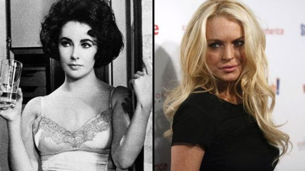 Would Lindsay Lohan (right) make a good Liz Taylor? (AP)