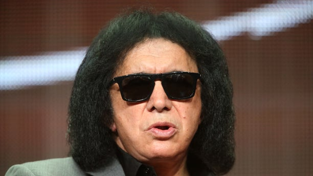"BEVERLY HILLS, CA - JULY 11:  TV personality/musician Gene Simmons speaks onstage at the ""4th and Loud"" panel during the AMC Networks portion of the 2014 Summer Television Critics Association at The Beverly Hilton Hotel on July 11, 2014 in Beverly Hills, California.  (Photo by Frederick M. Brown/Getty Images)"