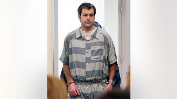 FILE - In a Thursday, Sept. 10, 2015 file photo, former North Charleston police office Michael Slager, is lead into court, in Charleston, S.C. Attorneys for Slager filed a motion Tuesday, Oct. 18, 2016 to have his trial moved out of Charleston, saying a survey found 85 percent of people in Charleston County had seen bystander video of the North Charleston officer shooting Walter Scott in April 2015. They say the video doesn't show the entire confrontation and potential jurors who have viewed the video might not be able to also fairly consider their evidence. (Grace Beahm/The Post And Courier via AP, File)