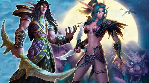 """Artwork depicts characters from the hit online game """"World of Warcraft."""""""