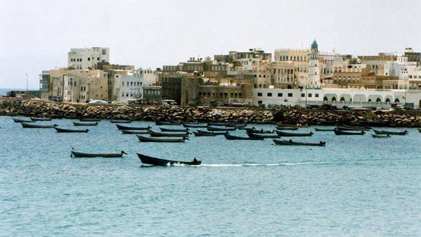 A general view of the Yemeni port city of Mukalla, on October 13, 2002