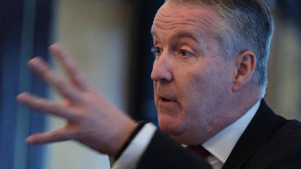 Malaysia Airlines' new CEO Peter Bellew speaks during a luncheon in Hong Kong, Tuesday, Jan. 17, 2017. Nearly three years after twin disasters took it to the brink of financial collapse, Bellew said an overhaul aimed at turning the ailing carrier around is going better than expected. (AP Photo/Vincent Yu)