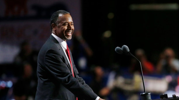 Former Republican Presidential Candidate Dr. Ben Carson smiles as he speaks at the Republican National Convention in Cleveland, Ohio, U.S. July 19, 2016.
