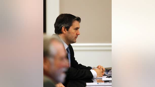 Former North Charleston police officer Michael Slager, listens to testimony at his trial at the Charleston County court in Charleston, S.C., Wednesday, Nov. 16, 2016. Slager is charged in the shooting death of Michael Scott, an unarmed black motorist. (Grace Beahm/Post and Courier via AP, Pool)