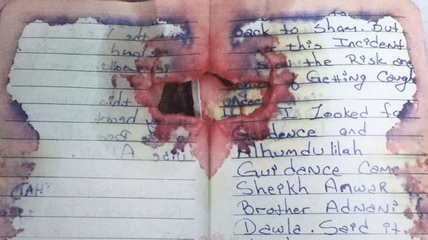 One image of a page from Rahami's journal was revealed during a House Homeland Security Committee hearing.