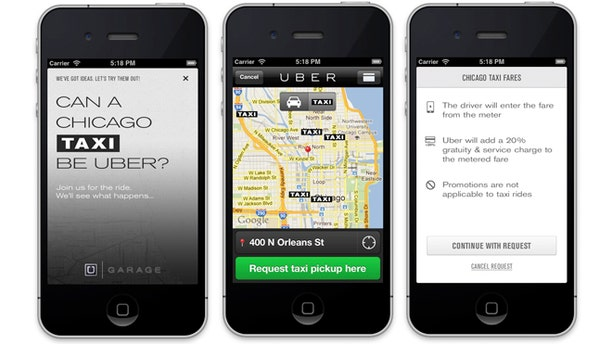 Innovative app Uber allows you to hail a taxi from your smartphone. The company recently expanded to Chicago, but still faces numerous regulatory hurdles.
