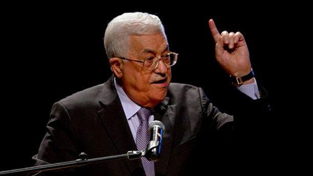Oct. 1, 2016: Palestinian President Mahmoud Abbas, speaks during a conference in the West Bank City of Bethlehem.