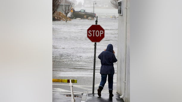 The nor'easter has brought flooding to Scituate, Mass. on Friday, March 2, 2018.