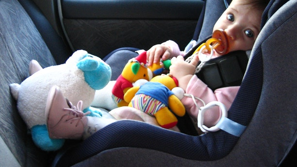 Toddler sitting in car seat.  (Photo by Fernando Camino/Cover/Getty Images)