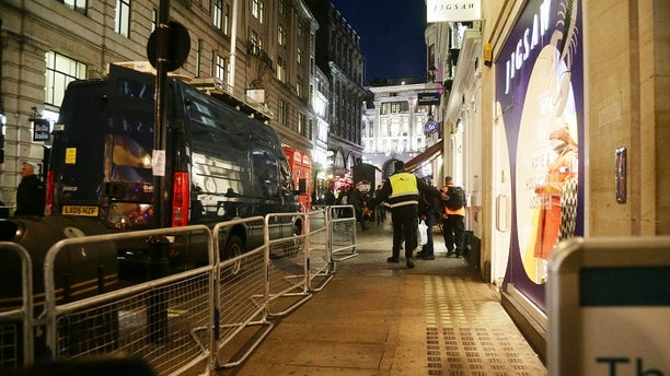 Metropolitan Police were called on to the scene after reports of shots fired at the Oxford Circus tube station.
