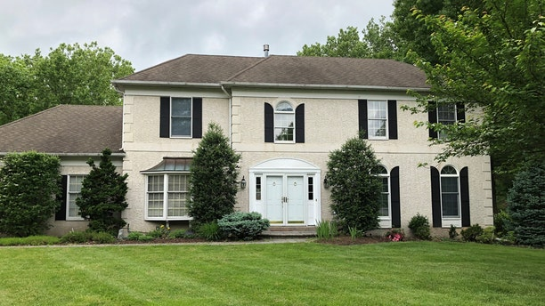 Denise and Tom Barger's former home on Heatherstone Drive in Berwyn, PA where the former was murdered.