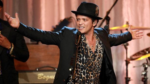 Singer Bruno Mars.