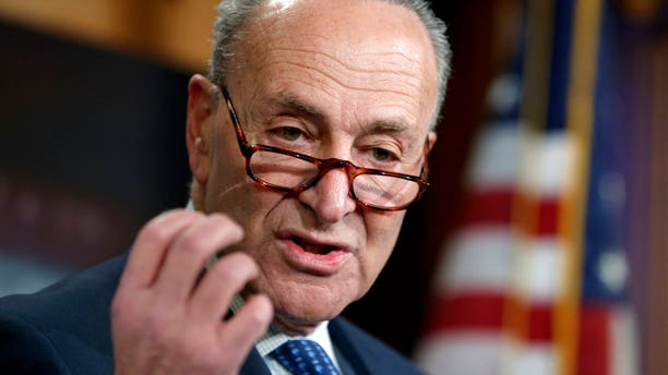 Senate Minority Leader Chuck Schumer faced heavy pressure to end the filibuster of a government funding measure.