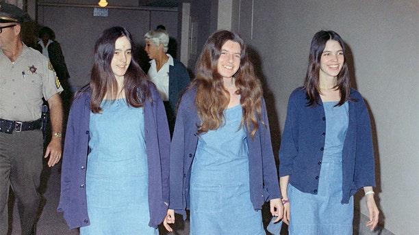 Charles Manson followers, from left: Susan Atkins, Patricia Krenwinkel and Leslie Van Houten.