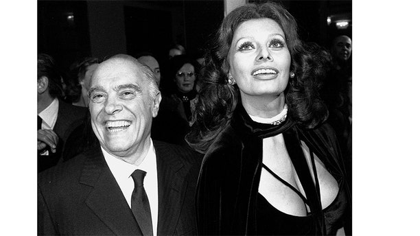 Sophia Loren and her husband Carlo Ponti.